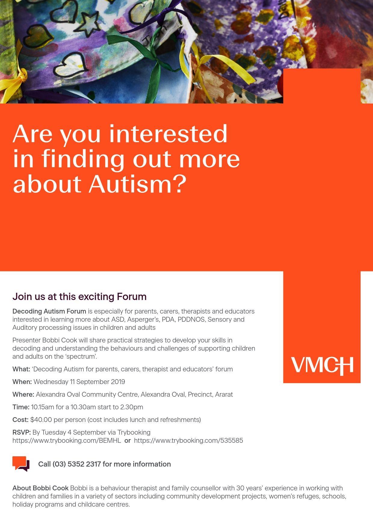 Decoding Autism Forum in Ararat