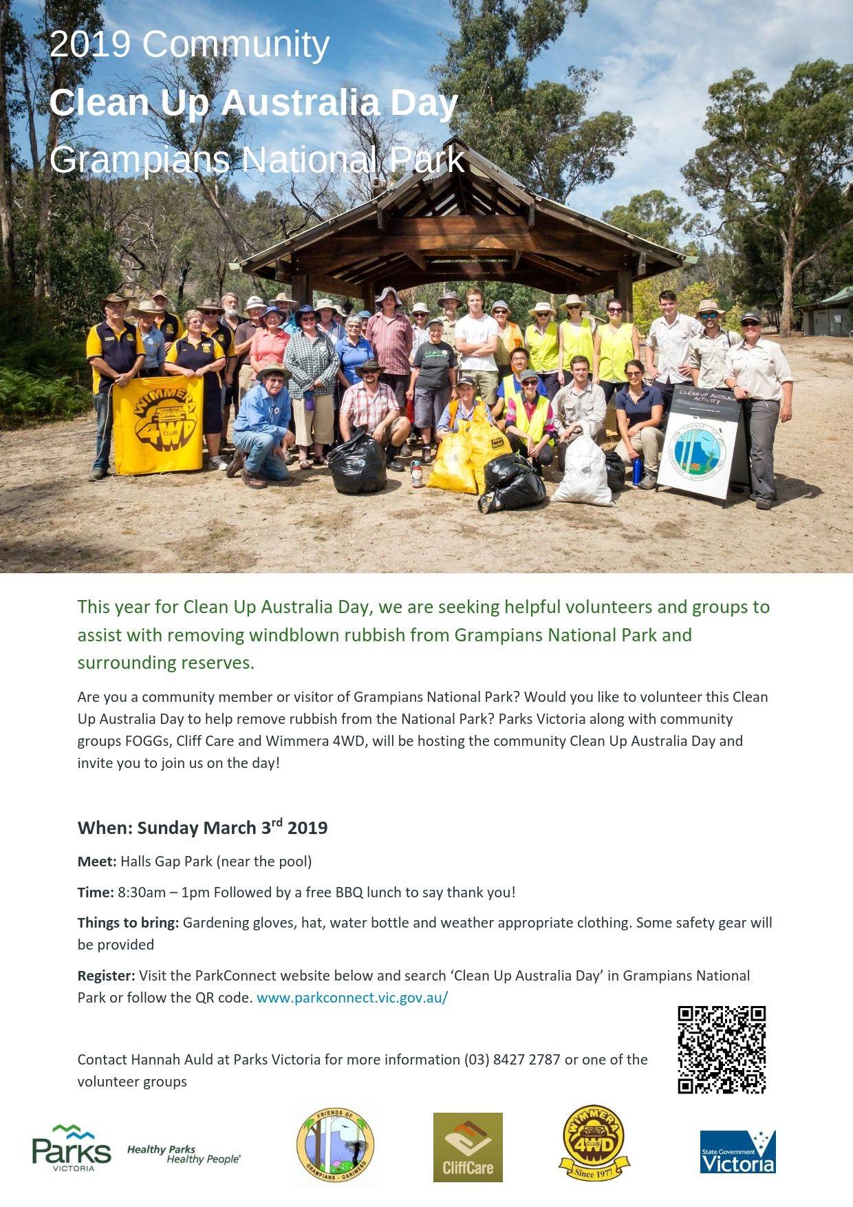 2019 Community Clean Up Australia Day Grampians National